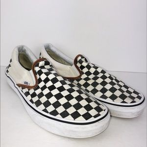 VAN Checkered Slip On Sneaker W/11 M/ 9.5